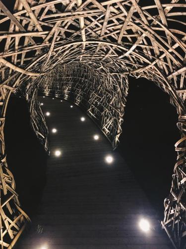 生活誌 夜晚的竹編長廊